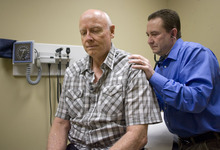 Al Hartmann  |  The Salt Lake Tribune Don Brown went to a chiropractor and used supplements and changed his diet and his diabetes is gone.  He has more energy and is feeling better.  He continues to go to his primary care Doctor Allen Naylor to make sure he is on track.