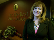 Paul Fraughton | The Salt Lake Tribune. Michelle McOmber, executive vice president and CEO of the Utah Medical Association,  says Utah's rules for advertising by chiropractors need to be tightened.