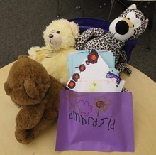 Rick Egan  | The Salt Lake Tribune  First-grade students from Whittier Elementary school made cards and placed stuffed animals Friday on the desk of 6-year-old Ambrosia Amalathithada -- who died after she and her mother were hit by a car at a State Street crosswalk on Wednesday in Salt Lake City.