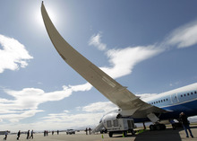 Al Hartmann  |  The Salt Lake Tribune Visitors take a tour of the new Boeing 787 Dreamliner on Thursday, March 15, 2012, in Salt Lake City.