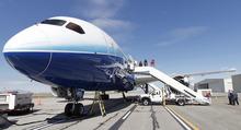 Al Hartmann  |  The Salt Lake Tribune Guests in Salt Lake City take a tour of the new Boeing 787 Dreamliner Thursday March 15.