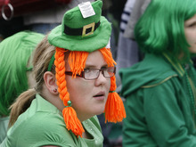 Scott Sommerdorf  |  The Salt Lake Tribune Hana Fauver is shown at the St. Patrick's Day Parade at The Gateway in 2011.