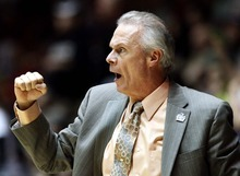 Wisconsin head coach Bo Ryan reacts to a call during the first half of an NCAA tournament third-round college basketball game against Vanderbilt, Saturday, March 17, 2012, in Albuquerque, N.M. (AP Photo/Matt York)
