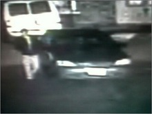 Photo of the suspect standing just outside the Honda. Courtesy photo