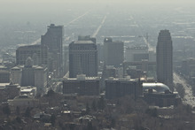 Chris Detrick  |  The Salt Lake Tribune A view of downtown Salt Lake City photographed Saturday March 10, 2012.