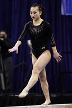 Brad McClenny  |  The Gainesville Sun Utah's Corrie Lothrop competes on the beam during an NCAA college gymnastics meet against Florida, Friday, March 16, 2012, in Gainesville, Fla. Florida won the meet. (AP Photo/The Gainesville Sun, )  THE INDEPENDENT FLORIDA ALLIGATOR OUT; MAGS OUT