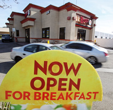 (AP Photo/Reed Saxon) Wendy's edged out Burger King in U.S. sales volume for the first time last year since Wendy's was founded in 1969, according to a report by the food industry research firm Technomic Inc. that's set to be released next month.