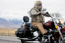Kim Raff     The Salt Lake Tribune Terry Tuke drives the final leg after making a pit stop Sunday at the Miller Motorsports Park in Grantsville during the 35th annual Polar Bear Ride to celebrate the 70th anniversary of the Salt Lake  Motorcycle Club.