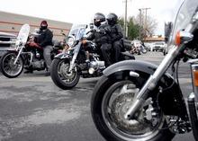 Kim Raff     The Salt Lake Tribune Riders leave Harley-Davidson to begin the 35th annual Polar Bear Ride on Sunday celebrating the 70th anniversary of the Salt Lake Motorcycle Club.