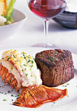The filet mignon and lobster dinner is only $34.95 now through April 7 at Flemings. source; Fleming's Prime Steahoues & Wine Bar