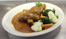 Francisco Kjolseth  |  The Salt Lake Tribune  Many of the well-known dishes remain on the menu the historic Lamb's Grill Cafe on Main street in downtown Salt Lake City, including the lamb shank, braised for five hours at 300 degrees.