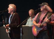 Graham Nash, left, and David Crosby. Crosby, Stills, & Nash at the USANA Amphitheatre. Photo by Trent Nelson 8.27.2005
