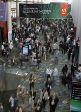 Francisco Kjolseth  |  The Salt Lake Tribune Adobe Systems is holding one of the world's largest digital marketing conferences in the world as 4,000 people descend on the Calvin L. Rampton Salt Palace Convention Center on Wednesday.