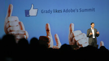 Francisco Kjolseth  |  The Salt Lake Tribune Grady Burnett, vice president of Global Sales and Operations at Facebook, joins the speaker line-up at Adobe Systems' digital marketing summit at the Calvin L. Rampton Salt Palace Convention Center on Wednesday.