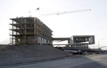 Francisco Kjolseth     The Salt Lake Tribune Adobe is building a new campus in northern Utah County just below Cabela's and next to I-15 at the Lehi exit. Employees will be moving in later this year.