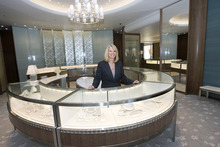 Paul Fraughton | The Salt Lake Tribune Julie Peterson is the store director at the new Tiffany store opening in City Creek Center.