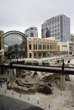 Francisco Kjolseth  |  The Salt Lake Tribune The final touches are put on the new City Creek development downtown as crews scrable to meet the March 22 opening deadline just over a week away.