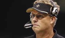 In this Sept. 26, 2010, file photo, Saints defensive coordinator Gregg Williams looks on during an NFL football game against the Atlanta Falcons at the Louisiana Superdome in New Orleans. The NFL has suspended New Orleans head coach Sean Payton for the 2012 season, and former Saints defensive coordinator Gregg Williams is banned from the league indefinitely because of the team's bounty program that targeted opposing players. Also Wednesday, March 21, 2012, Goodell suspended Saints general manager Mickey Loomis for the first eight regular-season games of 2012, and assistant coach Joe Vitt has to sit out the first six games. (AP Photo/Gerald Herbert, File)