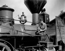 |  courtesy photo Buster Keaton plays a Confederate train engineer during the Civil War in