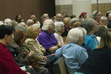 Chris Detrick  |  Tribune file photo Registered Republican voters listen during a caucus last week at Washington Elementary School in Salt Lake City.