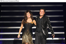 Donny & Marie unveil headlining variety show at Flamingo Las Vegas.  (PRNewsFoto/Flamingo Las Vegas, Ethan Miller/Getty Images)