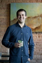 Chris Detrick  |  The Salt Lake Tribune Owner Scott Evans poses for a portrait at Pago Tuesday December 6, 2011. Pago builds its menu around the products it can buy locally, like beef, lamb, pork, produce, even the tequila it uses is locally made. Inside, products are sustainable too: It is making drinking glasses out of the wine bottles it uses; tables are reclaimed wood; countertops are from recycled paper.