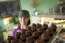 Leah Hogsten  |  The Salt Lake Tribune Allison Regan, owner of Sweet Cake Bake Shop in Kaysville, says the demand for her gluten-free products is nationwide. Her Kaysville bakery ships flour, cakes and cookies as far as Alaska, with more customers registered on her website in Texas than Utah.