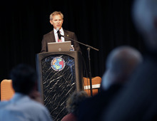 Al Hartmann  |  The Salt Lake Tribune Salt Lake City Mayor Ralph Becker speaks at the Wasatch Canyons Today symposium on Monday, March 26.