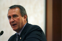 Tribune File Photo Attorney General Mark Shurtleff will be on hand for U.S. Supreme Court hearings on the 2-year-old health reform law. He also has scheduled twice-a-day media availabilities during the three days of hearings.
