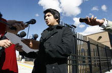 Tribune file photo             David Morales filed a complaint alleging an ICE agent violated his civil rights. This file photo is from last month, when Morales' illegal immigration case was closed.
