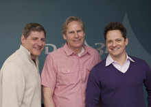 Courtesy Digital Art Zone Jim Thornton, left, is CEO of DAZ Productions; Dan Farr, center, is cofounder, former CEO and now chief strategy officer; Mark Wilburn is chief marketing officer.