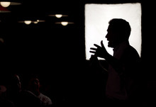 Republican presidential candidate former Massachusetts Gov. Mitt Romney addresses an audience during a campaign stop in Rockford, Ill., Sunday, March 18, 2012. (AP Photo/Steven Senne)