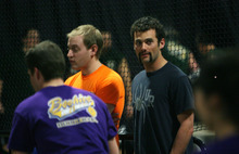 Steve Griffin  |  The Salt Lake Tribune  The Beehive Sport and Social Club organizes adult leagues for dodgeball, kickball, ultimate frisbee, etc. It's also a way eligible young adults meet other eligible young adults. Here organizer David Marquardt watches the semifinal matches of the finals of the winter dodgeball league at The Complex in Salt Lake City on Wednesday, March 14, 2012.