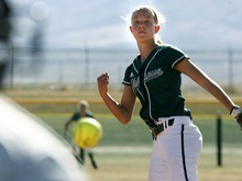 Paul Fraughton | The Salt Lake Tribune. Olympus High's Niki Eskelson  pitches in a game against Tooele High School.  Thursday, March 22, 2012