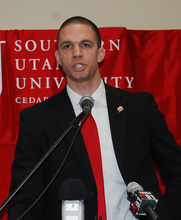 Nick Robinson, the new Southern Utah basketball coach.  Courtesy photo