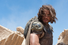 In this film image released by Warner Bros., Edgar Ramirez portrays Ares in a scene from