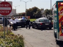 This image taken with a cell phone shows the early moments of the scene outside of Oikos University in Oakland, Calif., on Monday, April 2, 2012. (AP Photo/San Francisco Chronicle, Demian Bulwa)