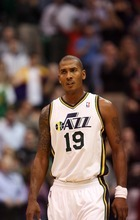 Steve Griffin  |  The Salt Lake Tribune   Raja Bell looks to the bench during second  half action of the Jazz versus Lakers game at EnergySlutions Arena in Salt Lake City, Utah  Wednesday, January 11, 2012.