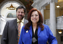 Al Hartmann  |  Tribune file photo Josie Valdez, wife of State Rep. Mark Archuleta Wheatley, D-Murray, is a candidate for state Senate District 8. Wheatley and Valdez are trying to be the first couple to be elected to the Legislature in Utah.