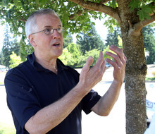 Tribune file photo  Steve Powell talks on Aug. 19, 2011, about a news conference in Ely, Nev., and the renewed interest by West Valley City police, in the search for his missing daughter-in-law, Susan Powell, during an interview in a park near his home, in Puyallup, Wash. Steve Powell was arrested Thursday and charged with 14 counts of voyeurism and possession of depictions of minors engaged in sexually explicit conduct in the second degree.