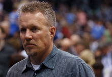 Trent Nelson  |  The Salt Lake Tribune Greg Miller, as the Utah Jazz host the Oklahoma City Thunder, NBA basketball at EnergySolutions Arena Friday, February 10, 2012 in Salt Lake City, Utah.