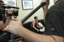 Chris Detrick  |  The Salt Lake Tribune Ballet West dancer Allison DeBona is filmed by a BBC film crew for the show