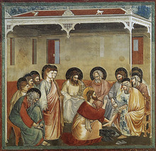 Christ Washing the Disciples' Feet by Giotto Completion Date: c.1305