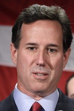 Former Pennsylvania Sen. Rick Santorum announces he is suspending his candidacy for the presidency Tuesday, April 10, 2012, in Gettysburg, Pa.  (AP Photo/Gene J. Puskar)