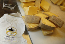 Scott Sommerdorf  |  The Salt Lake Tribune              Rockhill Creamery's Wasatch Mountain Gruyere is one of the Utah dishes that will be served Tuesday during the Governor's 6th Annual Economic Summit. Utah foods will be showcased to highlight the diversity and range of manufacturers and farmers in the state.