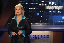 """RAISING HOPE: Nancy Grace (guest-starring as herself) hosts fictional TV show """"Inside Probe"""" in the """"Inside Probe"""" episode of RAISING HOPE airing Tuesday, April 10 (9:31-10:00 PM ET/PT) on FOX.  ©2012 Fox Broadcasting Co. Cr: Patrick Wymore"""