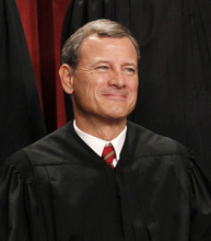 FILE - In this Oct. 8, 2010 file photo, Chief Justice John G. Roberts is seen during the group portrait at the Supreme Court Building in Washington. An apparent misunderstanding about President Barack Obama's health care overhaul could cloud Supreme Court deliberations on its fate, leaving the impression that the law's insurance requirement is more onerous than it actually is. (AP Photo/Pablo Martinez Monsivais, File)