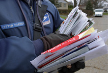 (AP Photo/Seth Perlman) The 284,000-member union represents letter carriers employed nationwide. According to www.nalc.org, the cost-cutting measure would eliminate Saturday delivery, delay mail delivery times and cut 150,000 jobs.