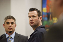 Associated Press file photo David Ragsdale, right, pleaded guilty to aggravated murder for killing his wife Kristy in January 2008. Utah state courts have closed off from public view thousands of filings in family law cases, such as those in Ragsdale case, with court officials citing privacy concerns as the state moves to electronic filings only.