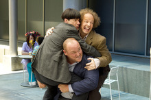 In this image released by 20th Century Fox, clockwise from left, Chris Diamantopoulos, Sean Hayes and Will Sasso are shown in a scene from